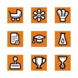 Orange icon series Royalty Free Stock Image