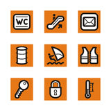 Orange icon series Royalty Free Stock Photography