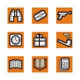 Orange icon series Stock Image