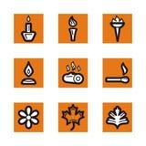 Orange icon series Royalty Free Stock Photos