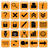 Orange icon set Royalty Free Stock Image