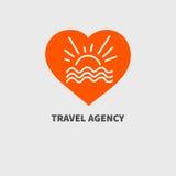 Orange icon vacation Stock Images