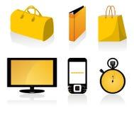 Orange icons Stock Image
