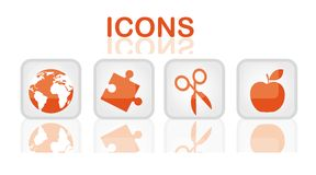 Orange icons Stock Photos