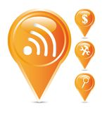Orange icons Stock Images