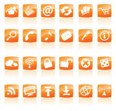 Orange icons Stock Image