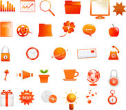 Orange icons Royalty Free Stock Image