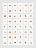 Orange icons for eshop, suitable for flat design stock illustration