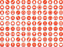 Orange icons Royalty Free Stock Photography