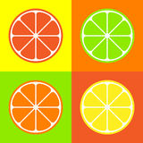 Orange icons set great for any use. Vector EPS10. Stock Photos