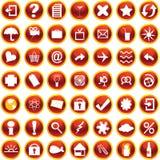 Orange icons for web. Web and internet icons set on white background Stock Photography
