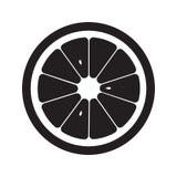 Orange Ikone flach Graues Zeichensymbol des Vektors Stockfotografie