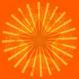 Orange illustration för berömljusstjärna Royaltyfri Foto