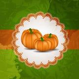 Orange illustration för pumpabakgrundsvektor Royaltyfri Fotografi