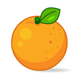 Orange illustration. Orange isolated on white background royalty free illustration