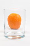 Orange im Glas Lizenzfreies Stockfoto