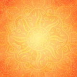 Orange indian pattern Stock Images
