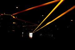 Orange indoor light lines Stock Images