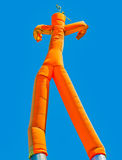 Orange inflatable man Royalty Free Stock Image