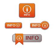 Orange info button Stock Photo