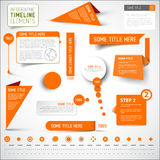 Orange infographic timeline elements / template Stock Photo