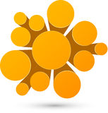 Orange infographicsdesign för bubbla Arkivfoto