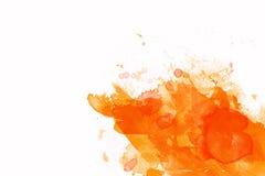 Orange ink Royalty Free Stock Photos