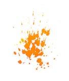 Orange ink splashes. On a white background Royalty Free Stock Photography