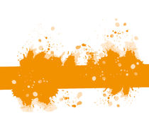 Orange ink splat banner Stock Image