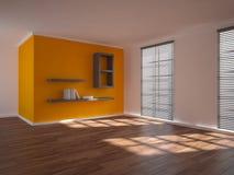 Orange interior concept for living room Stock Images