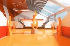 Orange interior design Stock Photo