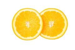 orange in isolate on white. Royalty Free Stock Image