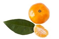 Orange isolated. On white background Royalty Free Stock Photo