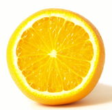 Orange, isolated. Orange on isolated white background royalty free stock photo
