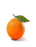 Orange isolated with leave. South Italian Orange on background white with clipping mask Stock Photo