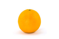 An Orange Isolated on White Royalty Free Stock Photo
