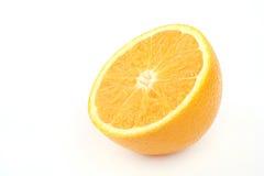 Orange Isolated On White Background. Close up half of the orange on white background Stock Photo
