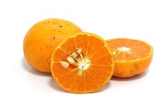 Orange isolated in white background Stock Photos