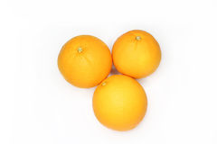 Orange Isolated On White Background. Three oranges isolated on white background stock image