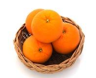 Orange  isolated  on  white background Stock Images