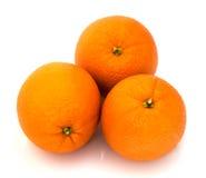 Orange  isolated  on  white background Royalty Free Stock Photography