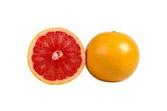 Orange isolated on white background. Half and slice of orange isolated on white background Royalty Free Stock Photo