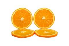 Orange isolated on white background. Half and slice of orange isolated on white background Stock Photo