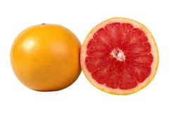 Orange isolated on white background. Half and slice of orange isolated on white background Royalty Free Stock Photography
