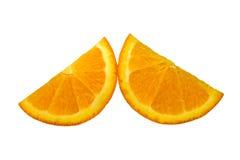 Orange isolated on white background. Half and slice of orange isolated on white background Royalty Free Stock Image