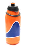 Orange isolation bottle. Isolation bottle for bicycling, camping, hiking,walking,travelling isolated on white background image Stock Photography