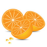 Orange ist geschmackvolle Frucht Stockfoto