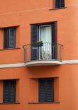 Orange Italian Facade Stock Image