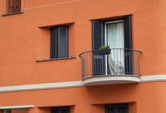 Orange Italian Facade Royalty Free Stock Photos
