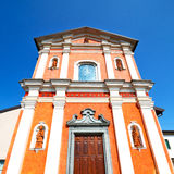 Orange    in italy europe milan     religion and sunlight old ar Stock Image